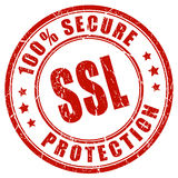 Ssl secure protection Stock Images