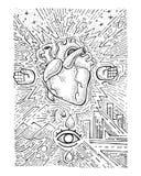 Städtisches elektrisches Herz Lizenzfreie Stockfotos