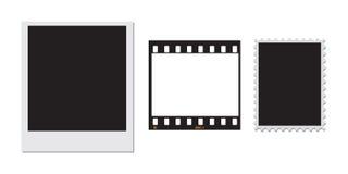 stämpel för polaroid för 35mm filmram Royaltyfri Bild