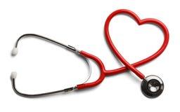 Stéthoscope de coeur Images stock