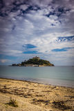 St Michaels Mount and the beach Stock Photos