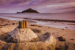 St Michaels Mount sand sculpture Stock Image
