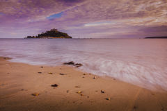 St Michaels Mount at sunset Royalty Free Stock Photography