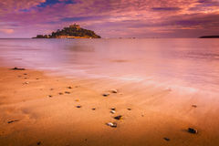 St Michaels Mount at sunset Royalty Free Stock Photos