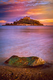 St Michaels Mount at sunset Stock Photo