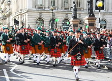 St Patrick's day parade. Royalty Free Stock Images
