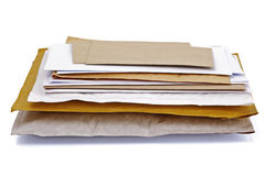 Stack of mail Royalty Free Stock Photo