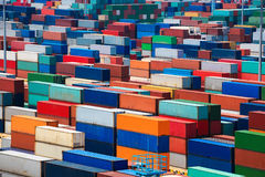 Stacked container Royalty Free Stock Image