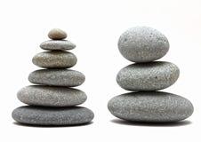 Stacked spa stones Royalty Free Stock Photo