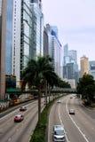 Stadtstraße von Hong Kong Stockfotografie