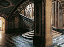 Stairs of the Queen Versailles Palace France Stock Image