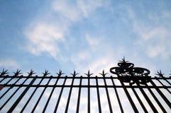 staketsilhouette Fotografering för Bildbyråer