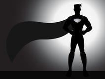 Standing Superhero Silhouette Royalty Free Stock Photo