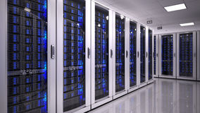 Stanza del server nel datacenter Immagini Stock Libere da Diritti