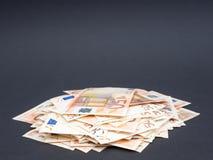 Stapel des Eurogeldes Lizenzfreie Stockfotografie