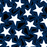 Star abstract illustration in a seamless pattern Royalty Free Stock Photography