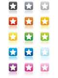 Star Buttons EPS Stock Images