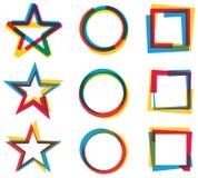 Star Circle Square Logo Set Royalty Free Stock Photo