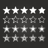 Star Icon Set Royalty Free Stock Image