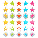 Star icons Stock Photo