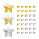 Star rating icons Royalty Free Stock Image
