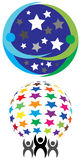 Star team logo Stock Photography