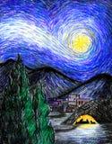 Starry Bethlehem Night Stock Photo