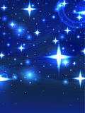 Starry blue night Stock Images