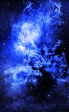 Starry deep outer space nebual and galaxy Stock Images