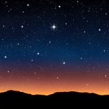 Starry sky at night Stock Images