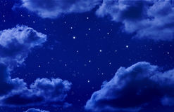 Stars In Night Sky Stock Photography
