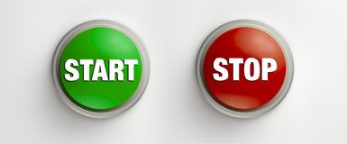 Start Stop buttons Stock Photography