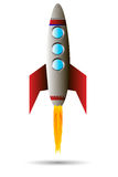 Starting red rocket Royalty Free Stock Photography