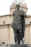 Statue of emperator Julius Caesar in Rome, Italy Royalty Free Stock Images