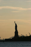 Statue of Liberty in blush color sky Stock Images