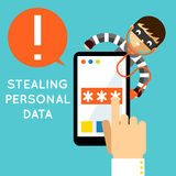 Stealing personal data Royalty Free Stock Photography