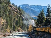 Steam powered Durango to Silverton Railroad Stock Image