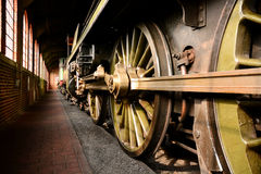 Steam train wheels Royalty Free Stock Images