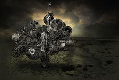 Steampunk Industrial Factory Machine Background Royalty Free Stock Image