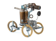 Steampunk vehicle. Royalty Free Stock Images