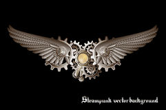 Steampunk wings Royalty Free Stock Photo