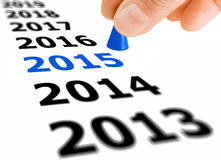 Step Into The New Year 2015 Stock Images