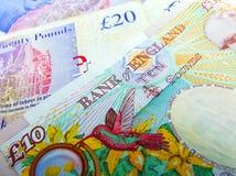 Sterling Bank Notes BRITÂNICO britânico Fotos de Stock Royalty Free