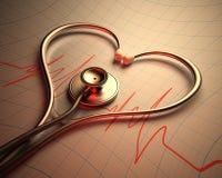 Stethoscope Heart Shape Royalty Free Stock Images