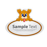 Sticker with animal design - dog Stock Photography