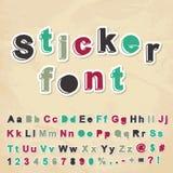 Sticker font Royalty Free Stock Photo