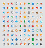 Sticker icons Royalty Free Stock Photography