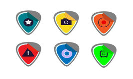 Sticker icons Stock Photography