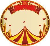 Sticker yellow red circus Stock Images