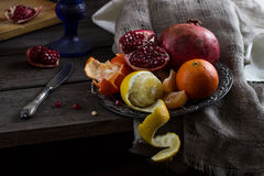 Still life with fruit Stock Images